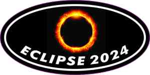 Oval Eclipse 2024 Sticker