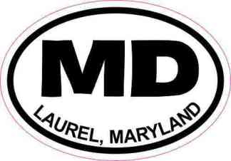 Oval MD Laurel Maryland Sticker