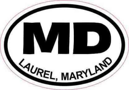 Oval MD Laurel Maryland Sticker