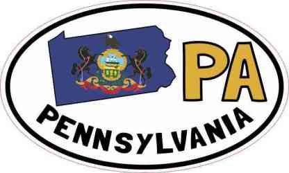 Oval PA Pennsylvania Sticker