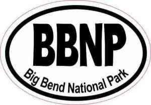 Oval BBNP Big Bend National Park Sticker