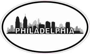 Oval Philadelphia Skyline Sticker