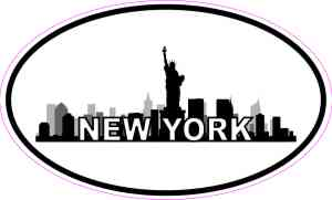 Oval New York Skyline Sticker