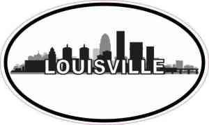 Oval Louisville Skyline Sticker