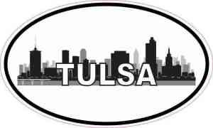Oval Tulsa Skyline Sticker