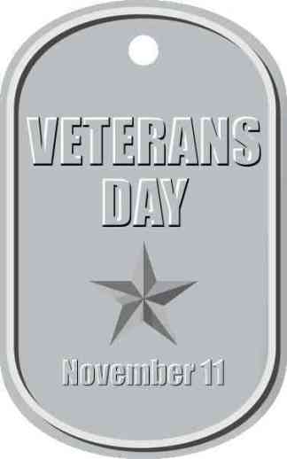 Dog Tag Veterans Day Sticker