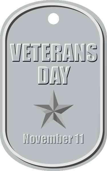 Dog Tag Veterans Day Sticker
