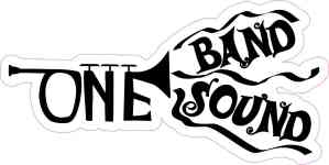 Trumpet One Band One Sound Sticker