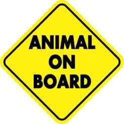 Animal On Board Sticker