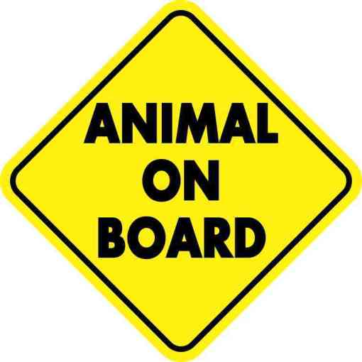 Animal On Board Magnet