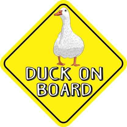 Duck On Board Sticker