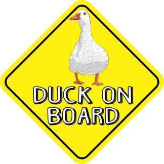 Duck On Board Magnet