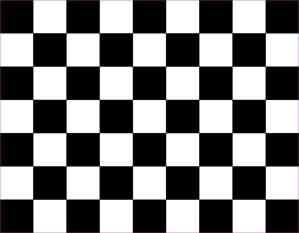 Black Checkered Sheet Magnet