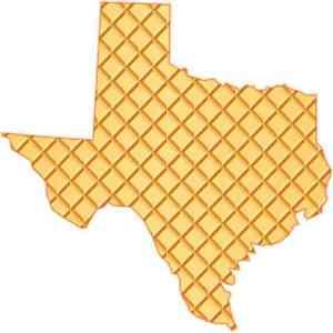 Die Cut Waffle Texas Sticker
