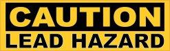 Caution Lead Hazard Magnet