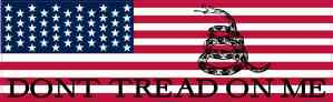 American Flag Dont Tread on Me Sticker