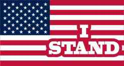 I Stand American Flag Magnet