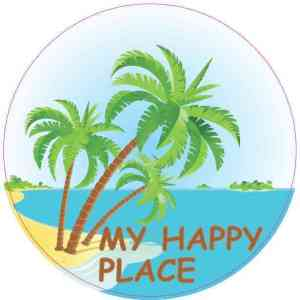 My Happy Place Beach Sticker