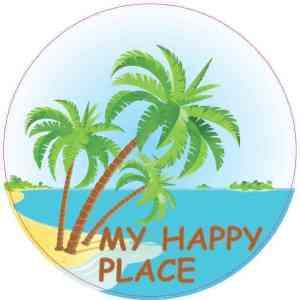 My Happy Place Beach Sticker