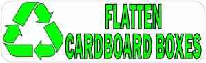 Recycling Flatten Cardboard Boxes Sticker