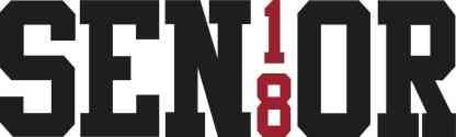 Red Senior 18 Sticker