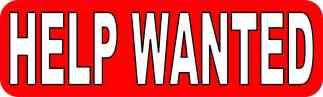 Help Wanted Sticker