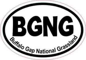 Oval Buffalo Gap National Grassland Sticker