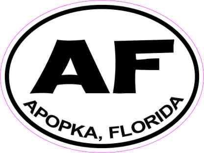 Oval AF Apopka Florida Sticker