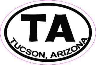 Oval TA Tucson Arizona Sticker