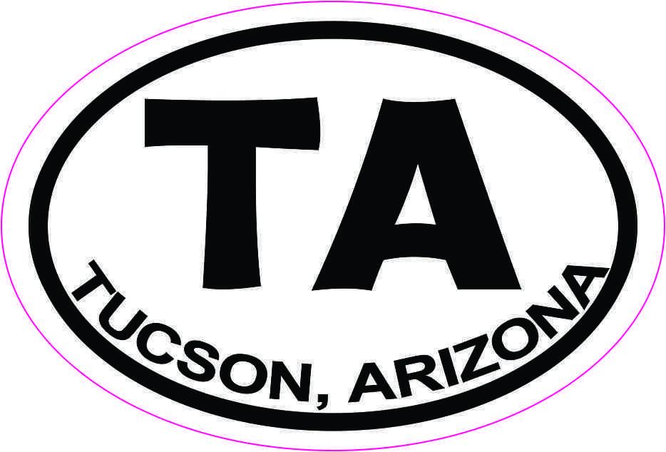 Oval TA Tucson Arizona Sticker