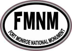Gray Oval FMNM Fort Monroe National Monument Sticker