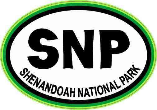 Green Oval SNP Shenandoah National Park Sticker