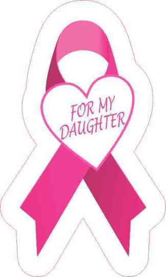 For My Daughter Breast Cancer Ribbon Sticker
