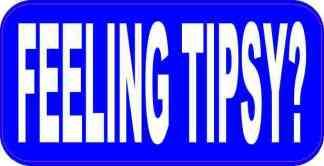 Blue Feeling Tipsy Magnet