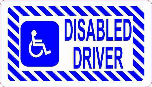 Disabled Driver Magnet