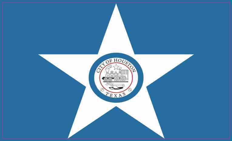 Houston Texas Flag Sticker