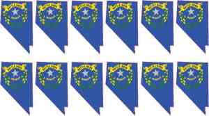Die Cut Nevada Flag Stickers