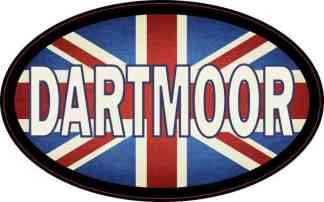Oval UK Flag Dartmoor Sticker