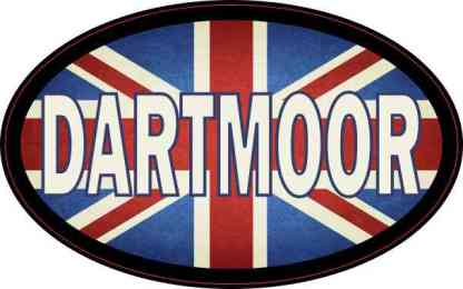 Oval UK Flag Dartmoor Sticker