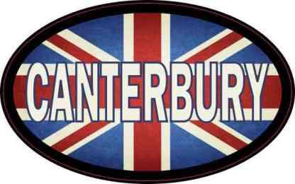 Oval UK Flag Canterbury Sticker