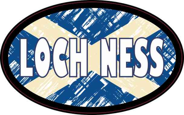 Oval Scottish Flag Loch Ness Sticker