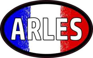 Oval French Flag Arles Sticker