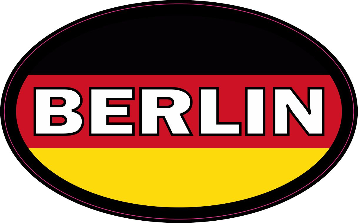 4in x 2 5in oval german flag berlin sticker