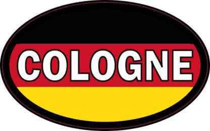 Oval German Flag Cologne Sticker