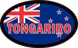 Oval New Zealand Flag Tongariro Sticker