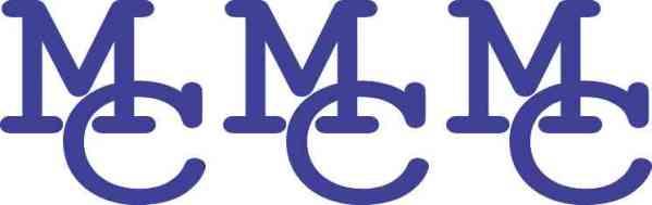 Die Cut Interlocked Blue MC Moffat County Stickers