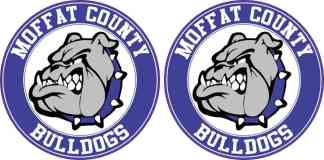 Circle Moffat County Bulldogs Stickers