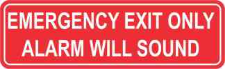 Double Sided Emergency Exit Only Sticker