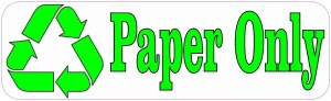 Paper Only Recycle Magnet