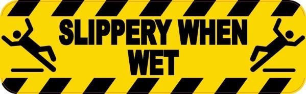 Symbol Slippery When Wet Magnet